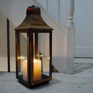 Tonto Burnished Copper Lantern