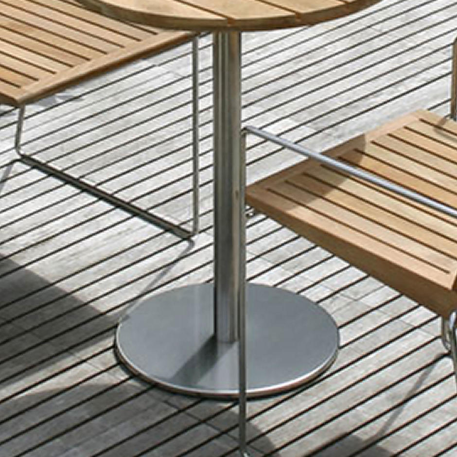Canteen Outdoor Stainless Steel Table Bases
