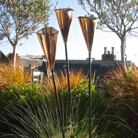 Copper Arum Lily Sculptures