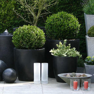 Large outdoor planters the worm that turned revitalising your cone egg planters terrazzo workwithnaturefo
