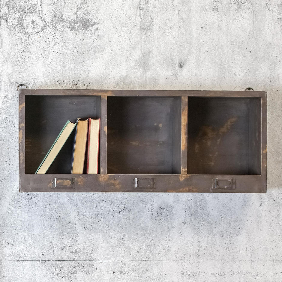 Wooden Pigeon Hole Shelf Unit