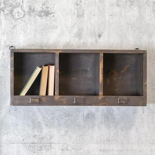 Wooden Pigeon Hole Shelf Unit