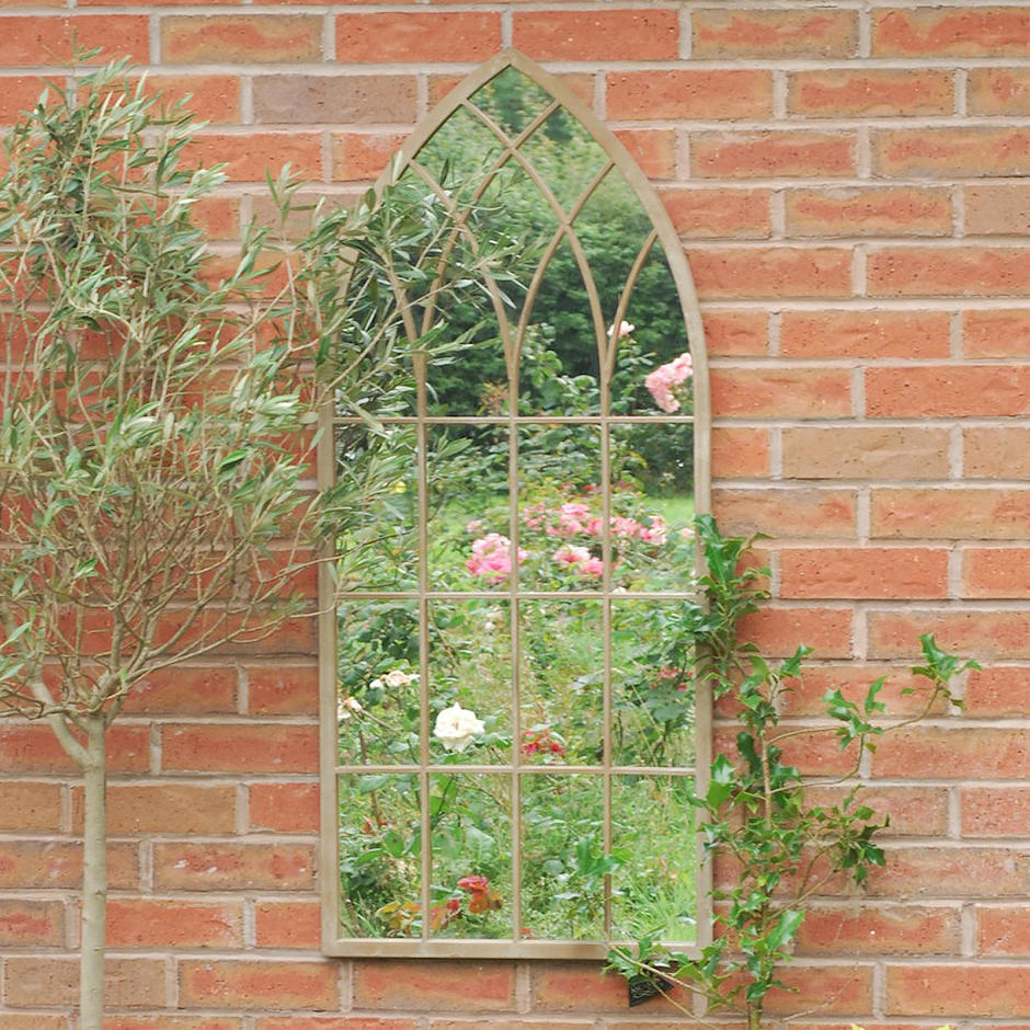 Gothic Outdoor Arched Mirror