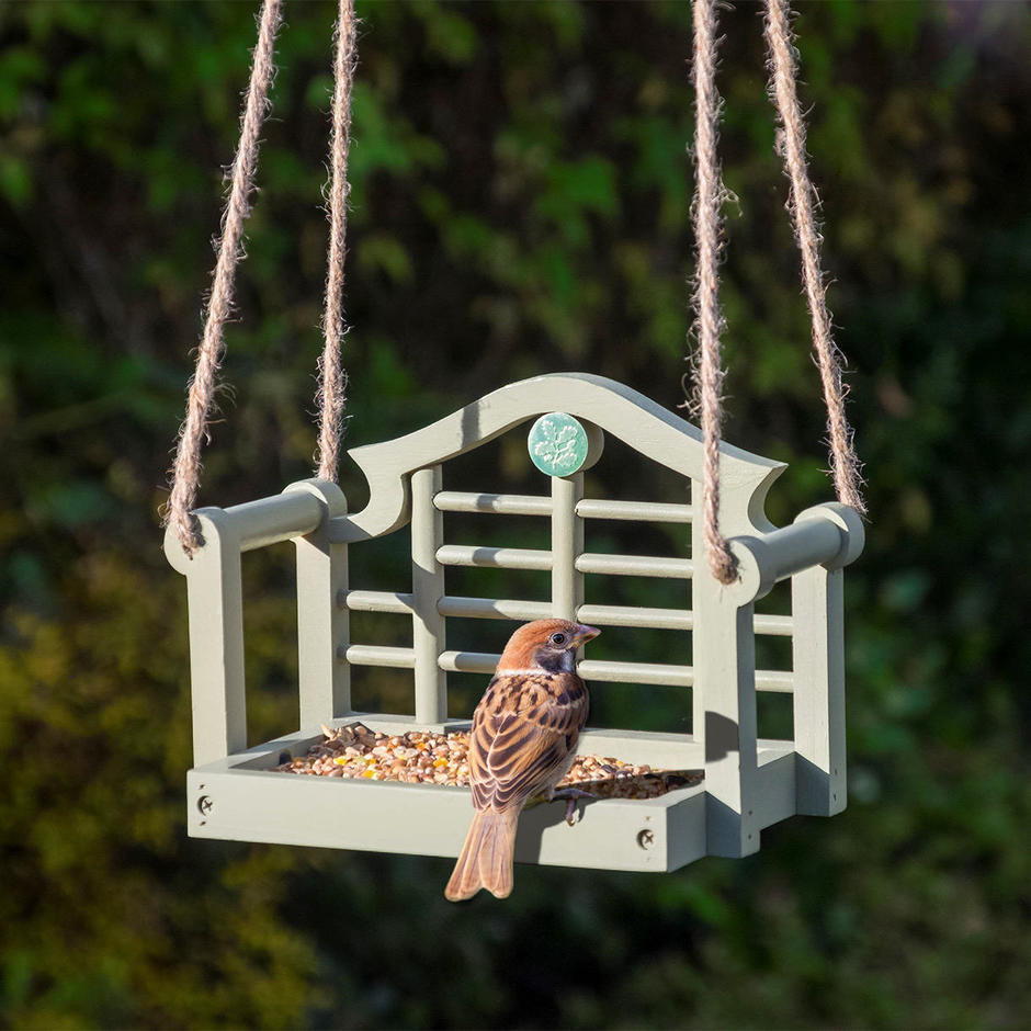 buy luytens swing seat bird feeder the worm that turned. Black Bedroom Furniture Sets. Home Design Ideas