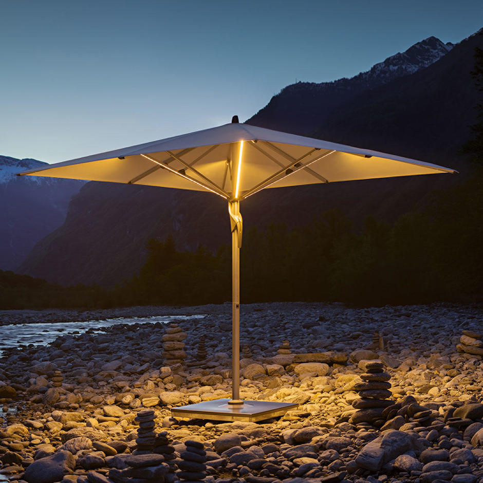 Fortello LED Square Easy Parasol