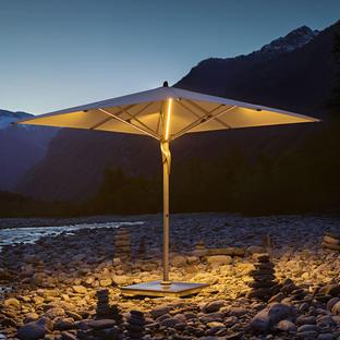 Fortello LED Square Easy Parasol