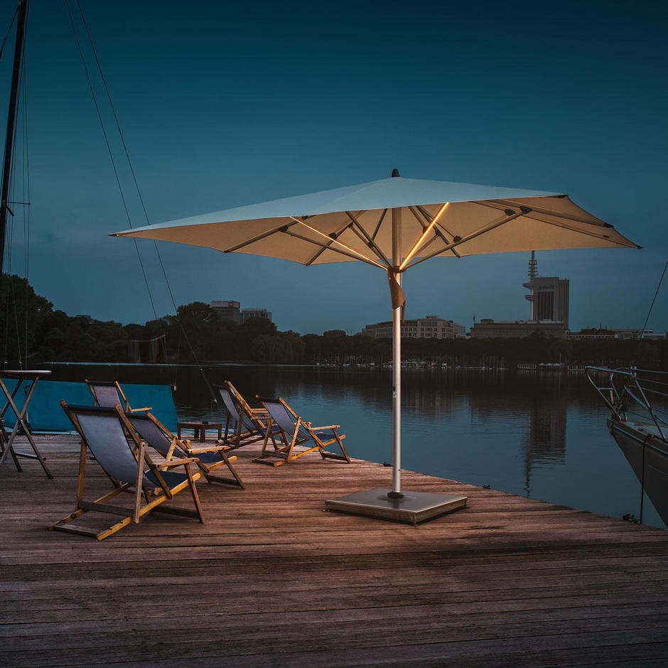 Fortello LED Rectangular Easy Parasol
