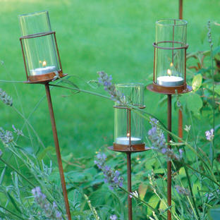 Rustic Glass Tube Tealight Holder