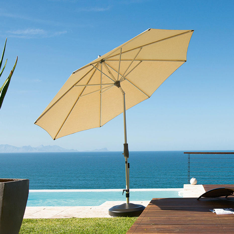 AluTwist Deluxe Bespoke Round Parasols