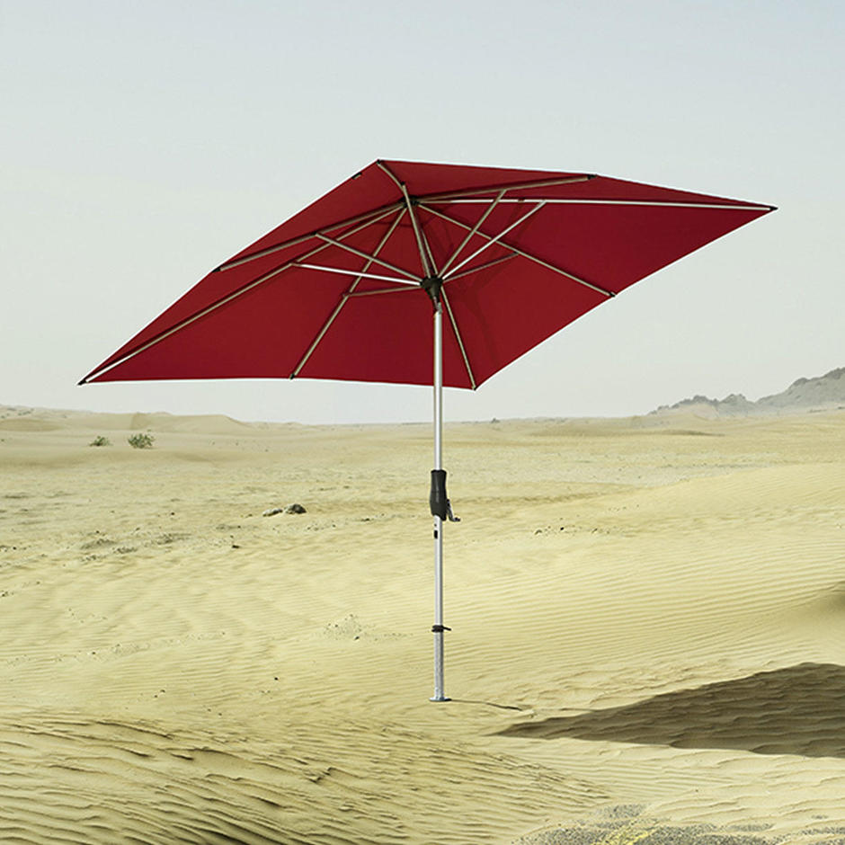 AluTwist Easy Square Centre Pole Parasols