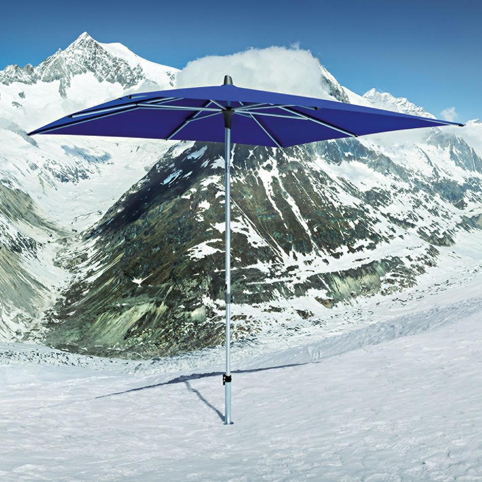 AluSmart Easy Rectangular Centre Pole Parasols