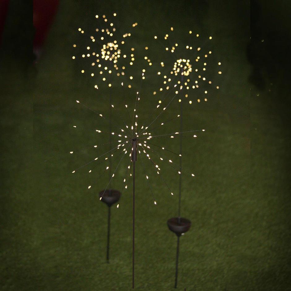 Allium Starburst LED Solar Outdoor Light Stake