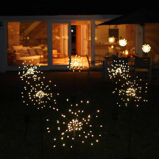 Buy Allium Starburst Led Solar Outdoor Light Stake The