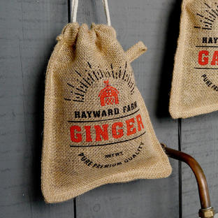 Jute Ginger Storage Bag