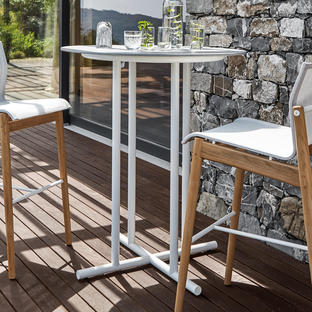 Whirl Square Outdoor Bar Tables