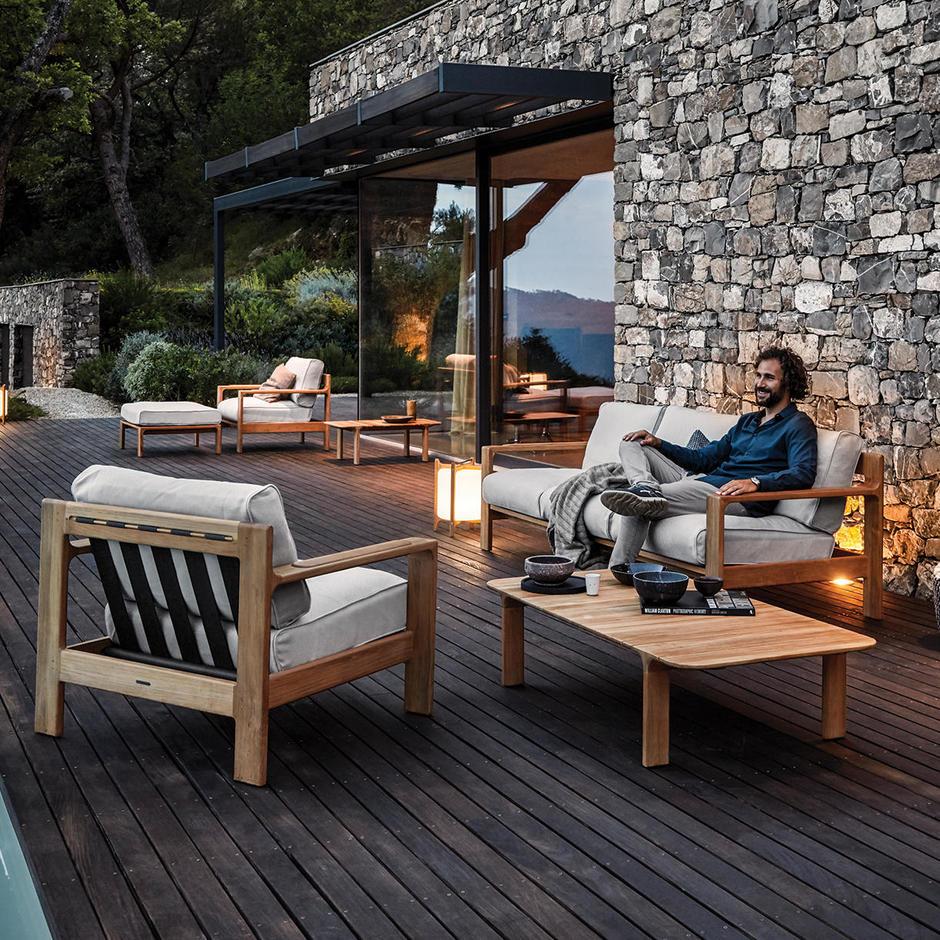 Loop Buffed Teak Deep Seating Outdoor Lounge