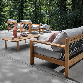 Loop Buffed Teak Deep Seating Outdoor Lounge