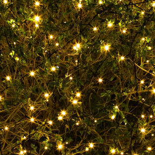 400 Solar Warm White LED String Lights