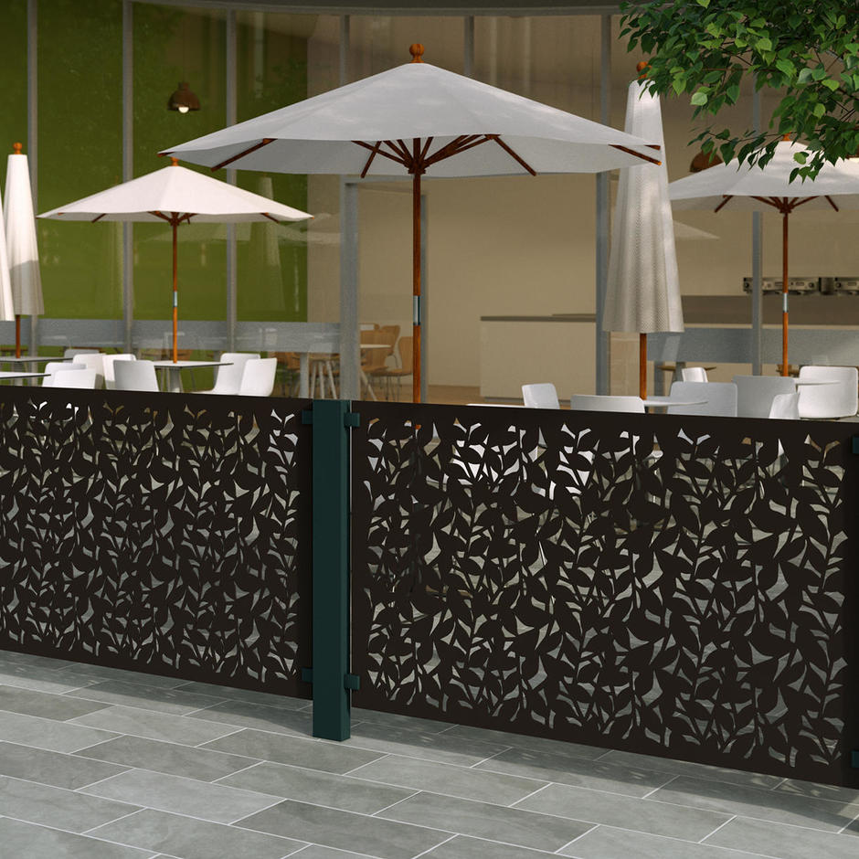 Brown-Grey Aluminium Balustrade Screen
