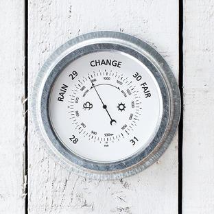 Galvanised Barometer
