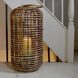 Tall Natural Rattan Lantern