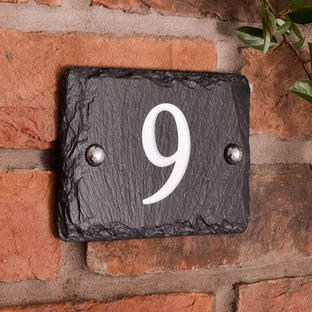 Rustic Slate House Numbers
