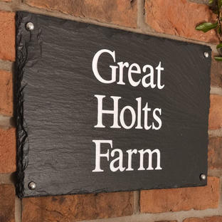 Rustic Slate Three Line House Signs
