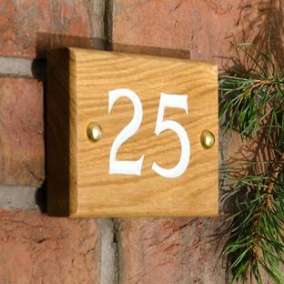 Rustic Oak House Numbers
