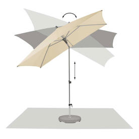 AluSmart Easy Rectangular Centre Pole Parasols