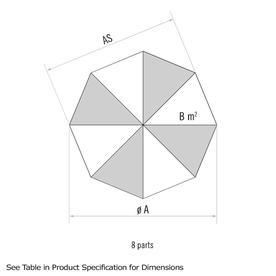 Fortello Round Bespoke Deluxe Parasol
