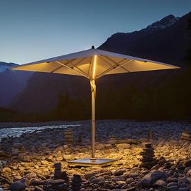 Fortello LED Round Easy Parasol