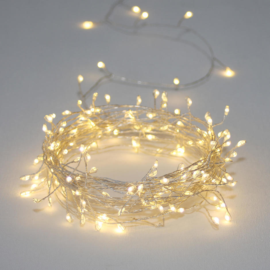 Outdoor Mini Pin Silver Cluster Line Lights