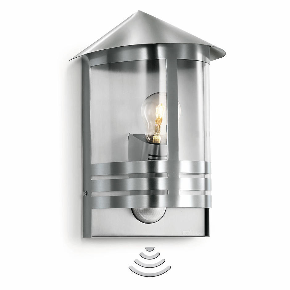 Outdoor Motion Sensor Modern Lantern