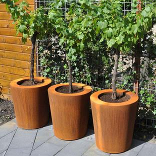 Cone Corten Steel Planters