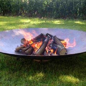 Large Corten Steel Garden Fire Bowls