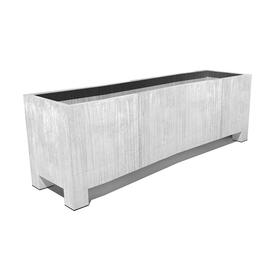 Trough Planter with Feet - Galvanised Steel