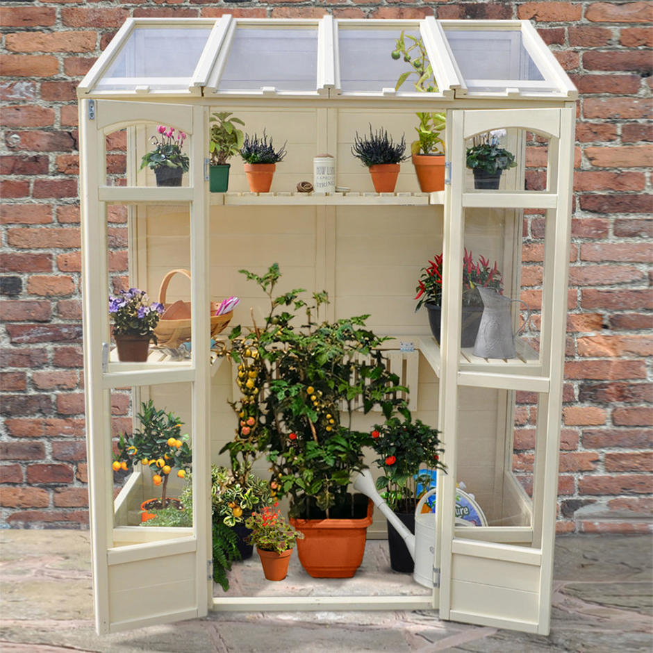 Buy Victorian Tall Wall Greenhouse by Forest Garden — The ...