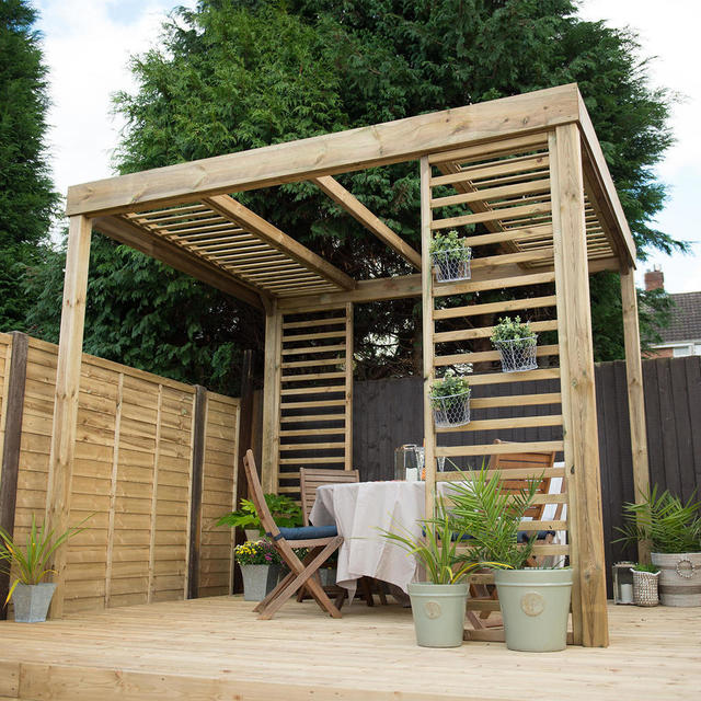 Buy Contemporary Pergola by Forest Garden — The Worm that ...