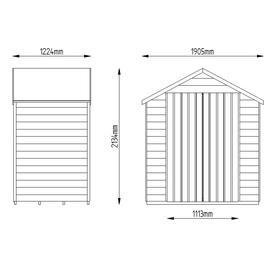 Double Door 6 x 4 Sheds