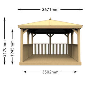 Square Gazebos with New England Cedar Roof