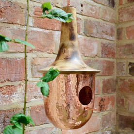 Copper and Wood Birdhouse or Feeder