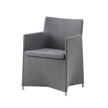 Diamond Dining Chair with All Weather Sunbrella Cushion - Grey