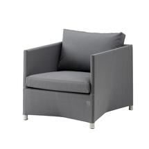 Diamond Lounge Chair with All Weather Sunbrella Cushions - Grey