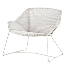 Breeze Lounge chair - White/Grey