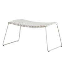 Breeze Footstool - White/Grey