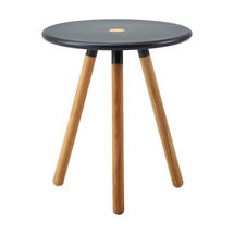 Area table/stool - Teak, Lava grey