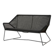 Breeze 2 Seater Lounge Sofa - Black