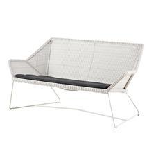 Breeze 2 Seater Lounge Sofa - White/Grey