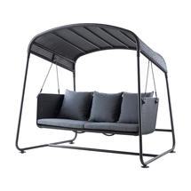 Cave Swing Seat with All Weather Cushions - Graphite/Grey
