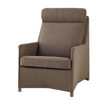 Diamond Highback Chair with All Weather Sunbrella Cushions - Brown